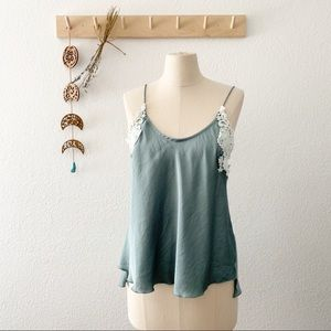 Free People Slinky Lace Camisole Top New